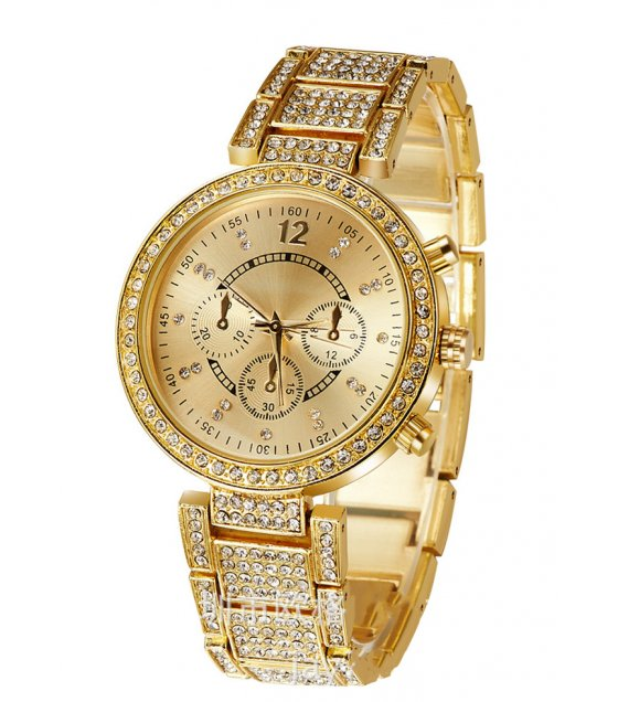 W1876 - Gold Rhinestone Watch