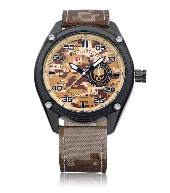 W1887 - Brown Military Design Men's Watch