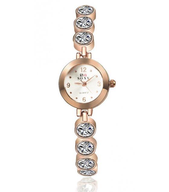 W1893 - SOXY Rose Gold Rhinestone Women's Watch