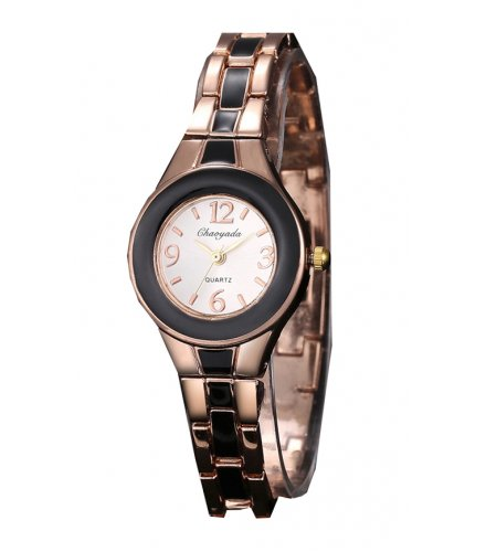 W1894 - Rose Gold Black Dial women's Watch