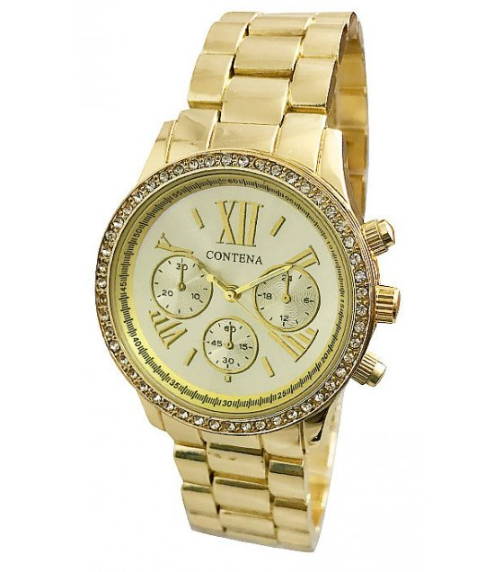 W2141 - Full Gold Contena Watch