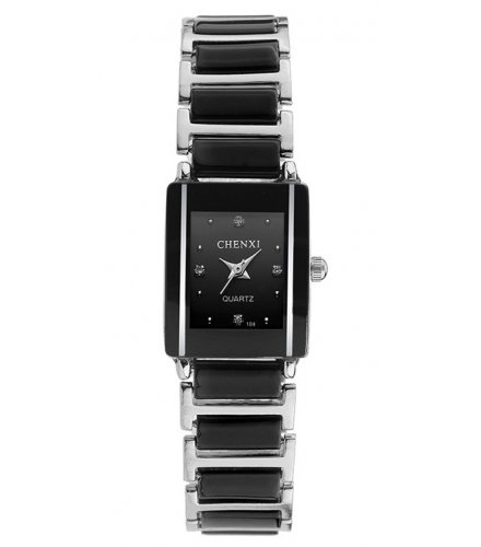 W2214 - ceramic ladies square quartz watch