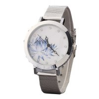 W222 - Silver Floral Watch