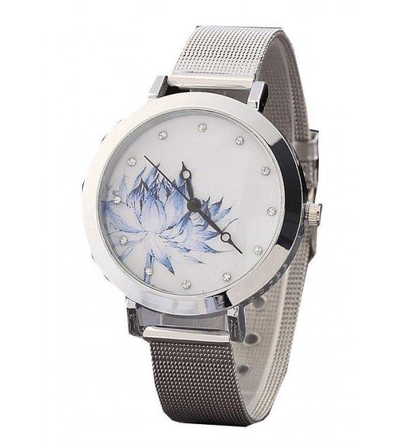 W222 - Silver Floral Watch