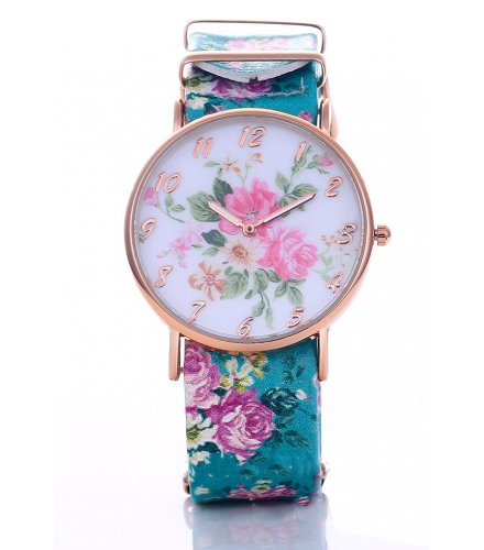 W2297 - Rose pattern cloth watch