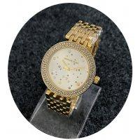 W2371 - Gold Rhinestone MK Watch