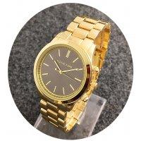 W2384 - Gold & Black Mixed MK Watch