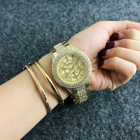 W2418 - Gold rhinestone Contena Watch