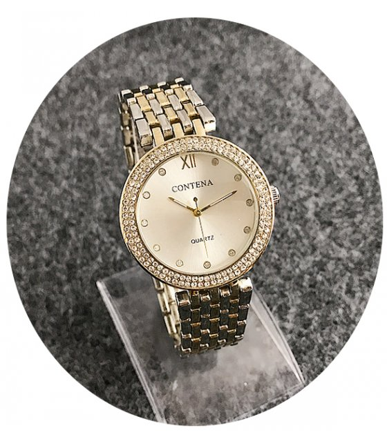 W2420 - Silver & Gold Mixed Contena Watch