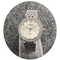 W2423 - Silver rhinestone Contena Watch