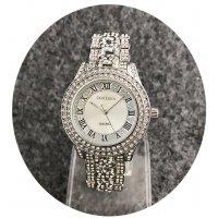 W2425 - Silver Rhinestone Contena Watch