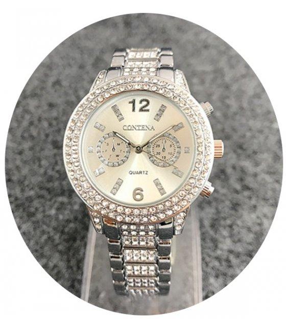 W2428 - Silver Rhinestone MK Watch