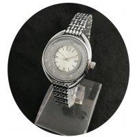 W2449 - Silver Rhinestone Oval Watch