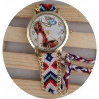 W2535 - High heels pattern weaving watch