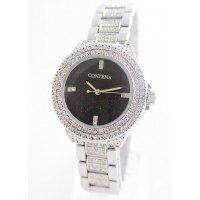 W2582 - Silver & Black Mixed Contena Watch