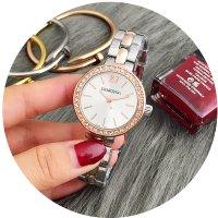 W2591 - Silver & Rose Gold Mixed Swarovski Watch