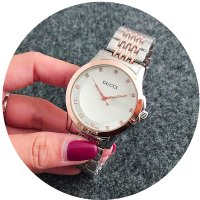 W2600 - Silver & Rose Gold Gucci Watch