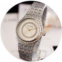 W2720 - Rhinestone Silver contena Watch