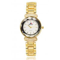 W2741 - Alloy inlaid crystal bracelet watch