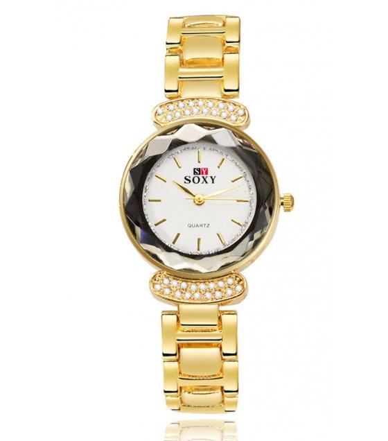 W2741 - Alloy inlaid crystal bracelet watch
