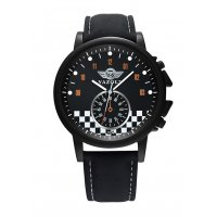 W2744 - Big black frame quartz watch