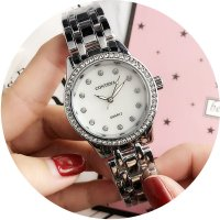 W2774 - Simple rhinestone Contena Watch