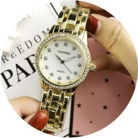 W2776 - Simple rhinestone Contena Watch