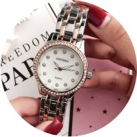 W2777 - Simple rhinestone Contena Watch
