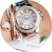 W2779 - Roman diamond elegant small watch