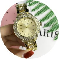 W2784 - Exquisite rhinestone Contena Watch