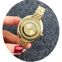 W2799 - Gold Rhinestone Watch