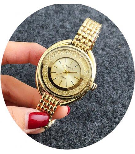 W2799 - Gold Rhinestone Watch