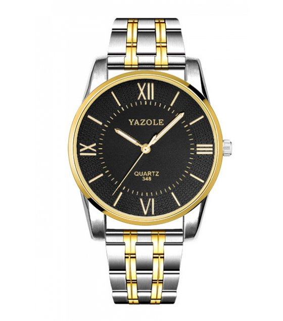 W2821 - YAZOLE gold steel belt business men's watch