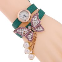 W2825 - Butterfly pearl ladies PU watch