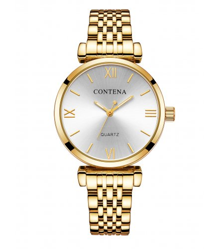 W2831 - High-end casual classic stud alloy ladies watch