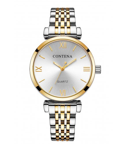 W2833 - High-end casual classic stud alloy ladies watch