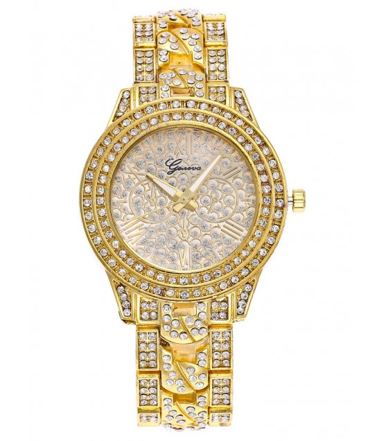 W2843 - High-grade alloy diamond Geneva watch