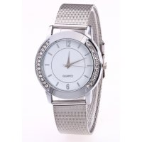 W2844 - Mesh belt strap Silver Watch