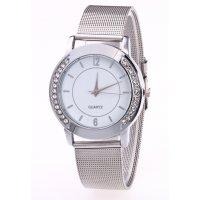 W2844 - Mesh belt strap Silver Watch
