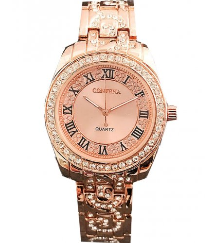 W2848 - Rose gold Rhinestone Watch