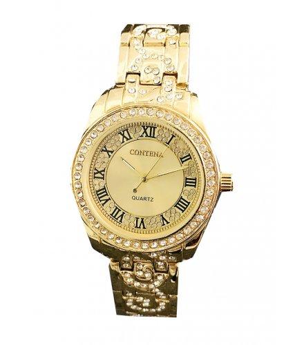 W2849 - Gold Rhinestone Watch