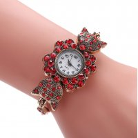 W2883 - Red rhinestone Watch