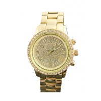W2885 - Gold Rhinestone Watch