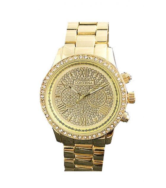 W2885 - Gold Rhinestone Watch