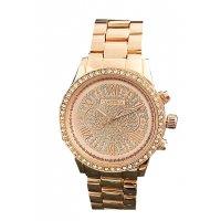 W2886 - Rose Gold Rhinestone Watch