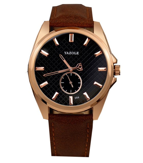 W2897  - Leather Casual Unisex Dial Watch