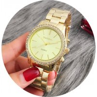 W2900 - Gold Rhinestone Women's Watch