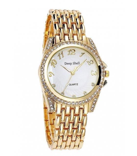 W2902 - Rhinestone Gold Watch