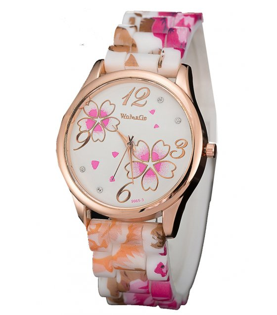 W2914 - Silicone Floral watch