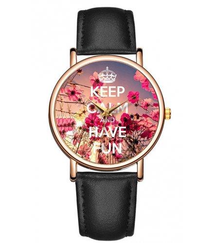 W2923 - Happy flower Casual Watch